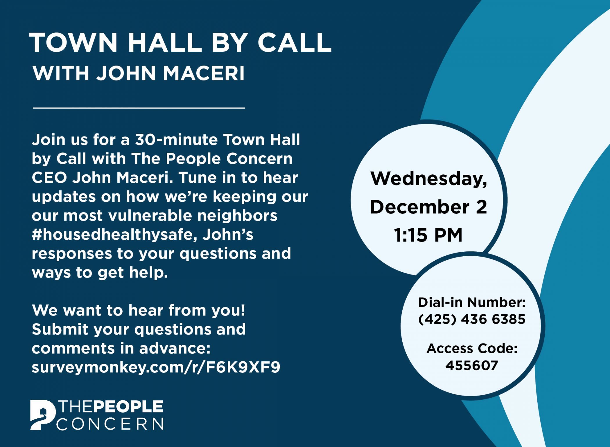 Town Hall by Call with John  Maceri